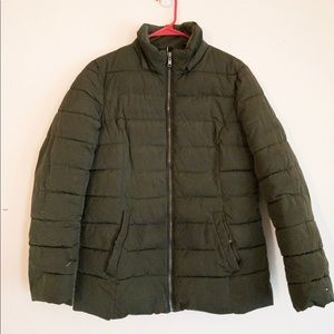 Tommy Hilfiger green winter coat